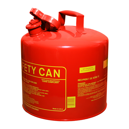 Safety Gas Can : Eagle gallon type red safety gas can