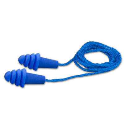 Elvex Quattro Reusable Ear Plugs - Corded - NRR 25 dB