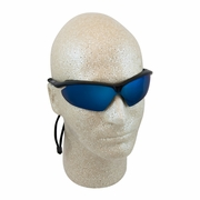 ERB Nightfire Black & Blue Mirror Safety Glasses