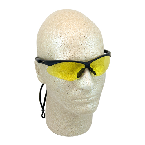 ERB Octane Black & Yellow Anti-Fog Safety Glasses