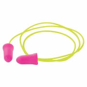 ERB GP-05C Pink Foam Ear Plugs - Corded - NRR 30 dB