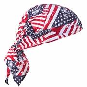 Ergodyne 6710 Chill-Its Evaporative Cooling Triangle Hat - Stars & Stripes