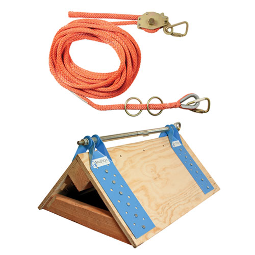 FallTech 50ft 2-Person Horizontal Lifeline System w/ DualTruss Anchors - #7432502