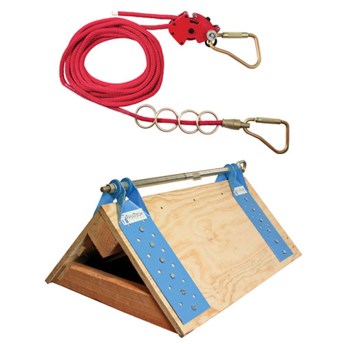 FallTech 50ft 4-Person Horizontal Lifeline System w/ DualTruss Anchors - #7432504