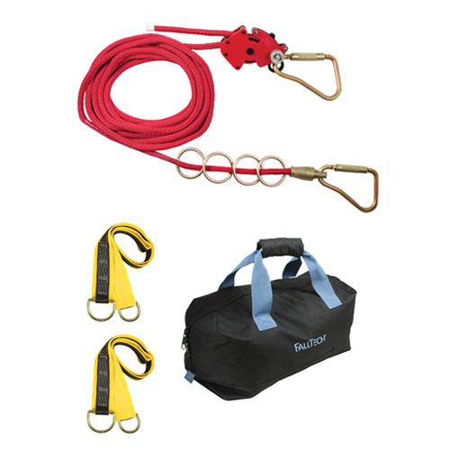 FallTech 50 ft 4-Person Checkline Horizontal Lifeline System - #777050