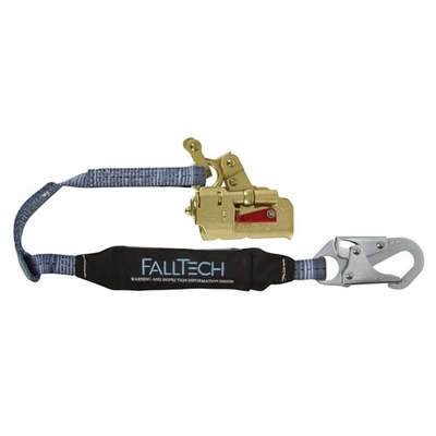 """FallTech Deluxe Self-Tracking Rope Grab & 3 ft Lanyard Combo - 5/8"""" - #8355"""