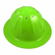 Forester Aluminum Full Brim Hard Hat - Lime Green