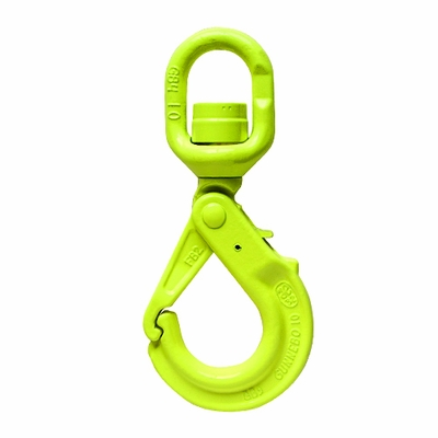 "Gunnebo 3/8"" LKBK-10-10 Grade 100 Self-Closing Swivel Hook - 8800 lbs WLL"