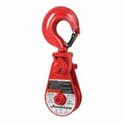 "Johnson SB12S8BH 8"" Snatch Block w/ Hook - 12 Ton WLL"