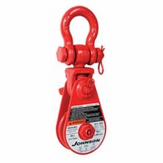 "Johnson SB12S8BS 8"" Snatch Block w/ Shackle - 12 Ton WLL"
