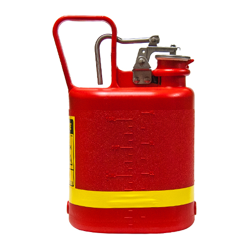 Safety Gas Can : Justrite gallon oval non metallic red safety gas can