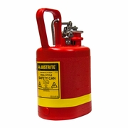 Justrite 1 Gallon Oval Non-Metallic Red Safety Gas Can