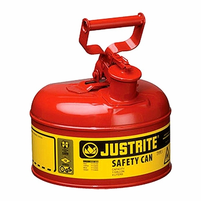 Justrite 1 Gallon Type 1 Red Safety Gas Can