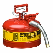 Justrite 2-1/2 Gallon Type 2 Red Safety Gas Can