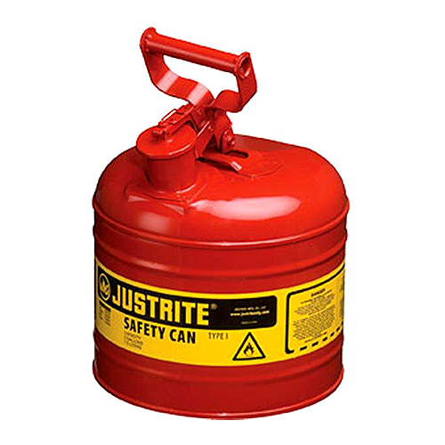 Justrite 2 Gallon Type 1 Red Safety Gas Can