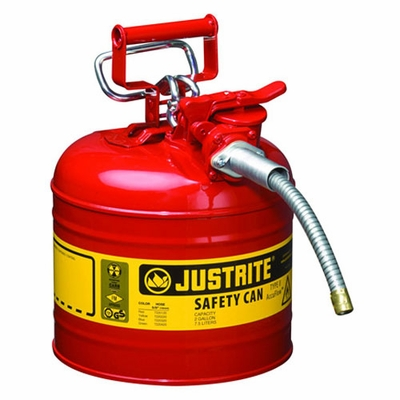Justrite 2 Gallon Type 2 Red Safety Gas Can