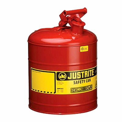 Justrite 5 Gallon Type 1 Red Safety Gas Can
