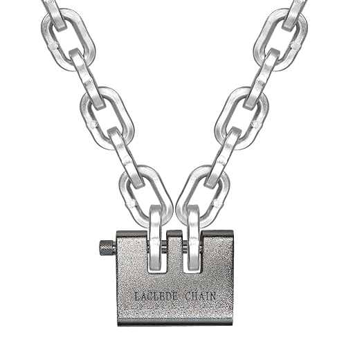 """Laclede 3/8"""" (10mm) """"Lockdown"""" Security Chain Kit - 8 ft Chain & Padlock"""