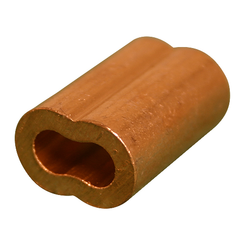 """3/8"""" Copper Oval Swage Sleeve"""