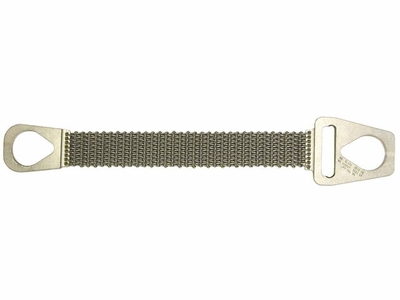 "Lift-All 2"" x 3 ft Type 1 Roughneck Wire Mesh Sling - 10 Gage - 2300 lbs WLL"