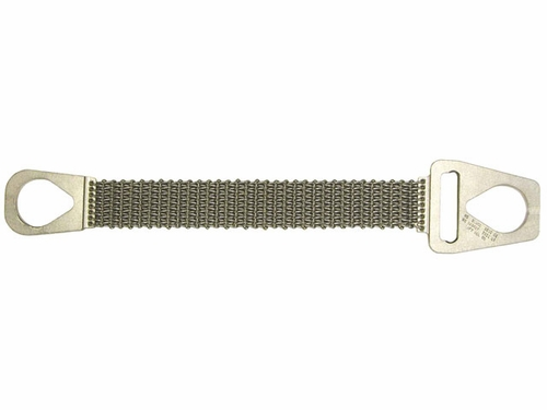 """Lift-All 4"""" x 18 ft Type 1 Roughneck Wire Mesh Sling - 12 Gage - 3200 lbs WLL"""