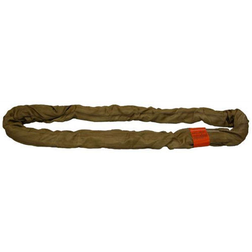 Lift-All Brown 8 ft Endless Tuflex Round Sling - 53000 lbs WLL