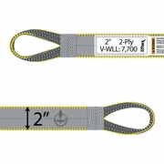 "Liftex 2 Ply 2"" x 4 ft Reverse Eye Pro-Edge Web Sling - 7700 lbs WLL"