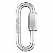 Maillon Rapide 10 mm PPE Rated Zinc-Plated Long Quick Link - 50 kN MBS