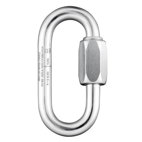 Maillon Rapide 8 mm PPE Rated Zinc-Plated Quick Link - 36 kN MBS
