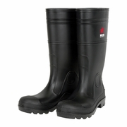 MCR Black PVC Plain Toe Boots - 16""