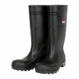 MCR Black PVC Steel Toe Boots - 16""