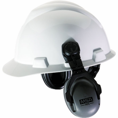 MSA HPE Cap-Mounted Ear Muffs - NRR 27 dB