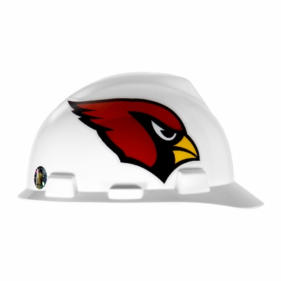 MSA V-Gard Cap Style NFL Team Hard Hat - Arizona Cardinals