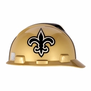 MSA V-Gard Cap Style NFL Team Hard Hat - New Orleans Saints