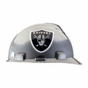 MSA V-Gard Cap Style NFL Team Hard Hat - Oakland Raiders