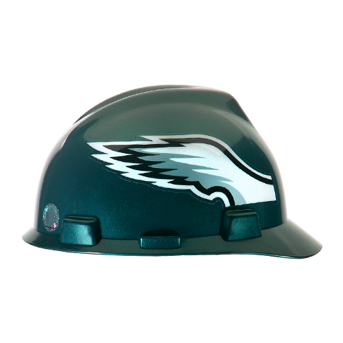 MSA V-Gard Cap Style NFL Team Hard Hat - Philadelphia Eagles - #818406