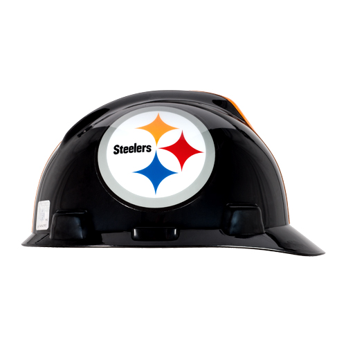 MSA V-Gard Cap Style NFL Team Hard Hat - Pittsburgh Steelers - #818407