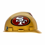 MSA V-Gard Cap Style NFL Team Hard Hat - San Francisco 49ers