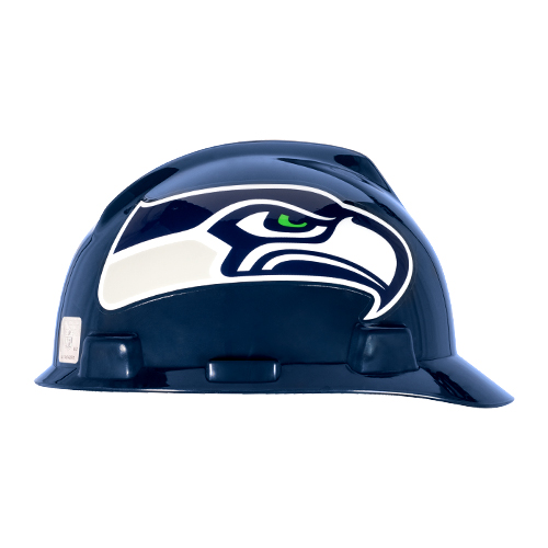 MSA V-Gard Cap Style NFL Team Hard Hat - Seattle Seahawks - #818410