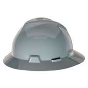 MSA V-Gard Full Brim Hard Hat - Gray