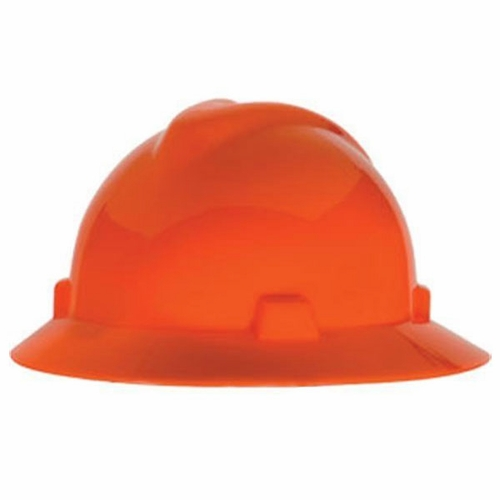 MSA V-Gard Full Brim Hard Hat - Hi-Vis Orange - #10021292