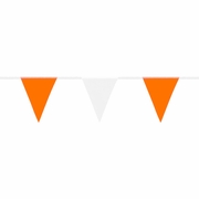 Mutual Orange & White Pennant Flags - 60 ft Roll