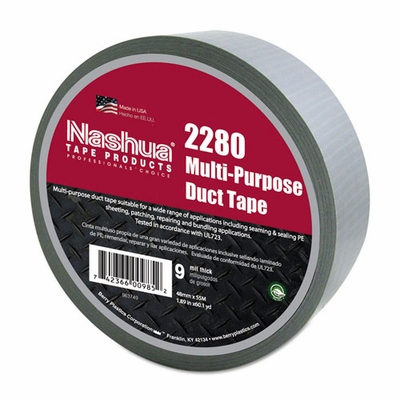 "Nashua 1-7/8"" x 180 ft 9 mil All Purpose Duct Tape - Full Box"