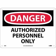 "National Marker Safety Sign - ""Danger Authorized Personnel Only"""