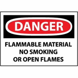 "National Marker Safety Sign - ""Danger Flammable Material..."""