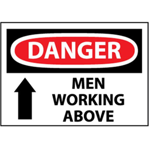 National marker safety sign danger men working above d125rb national marker safety sign danger men working above sciox Gallery