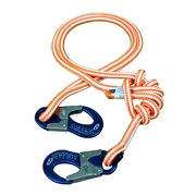 "New England 4 - 8 ft Adjustable HiVee Lanyard - 1/2"" Rope"
