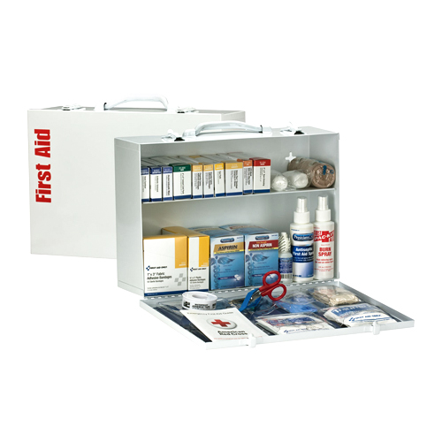 First Aid Only Metal Two Shelf First Aid Kit