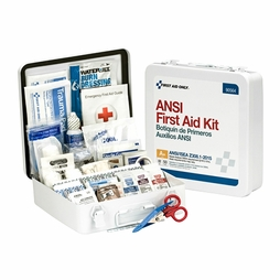 First Aid Only Metal Weatherproof 50 Person First Aid Kit