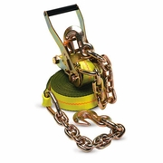 "PCC 2"" x 30 ft Ratchet Strap - Chain Anchors - 3335 lbs WLL"